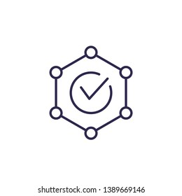 integrity vector line icon on white