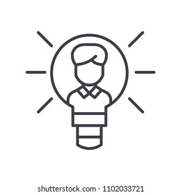 Intellectual property black icon concept. Intellectual property flat  vector symbol, sign, illustration.