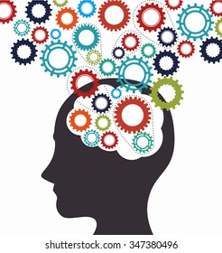 Intelligence of the human brain graphic design, vector illustration eps10