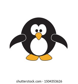 Intelligent black and white vector design of penguin
