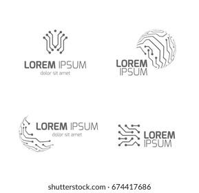 Circuit Board Logo Images, Stock Photos & Vectors | Shutterstock