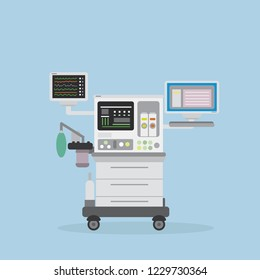 intensive care unit,medical object,flat vector illustration