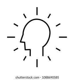 intention icon, vector illustration