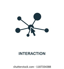 Interaction icon. Monochrome style design from machine learning collection. UX and UI. Pixel perfect interaction icon. For web design, apps, software, printing usage.