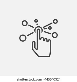 interactive interface line icon, outline vector illustration, linear pictogram isolated on white