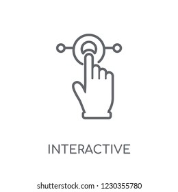 Interactive linear icon. Modern outline Interactive logo concept on white background from Internet Security and Networking collection. Suitable for use on web apps, mobile apps and print media.