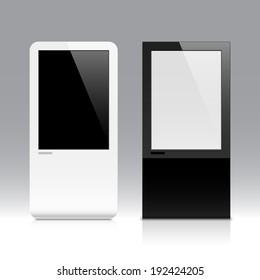 Interactive touch screen. Vector.