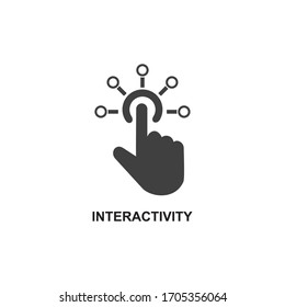 INTERACTIVITY ICON , CONNECTION ICON VECTOR
