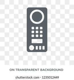 Intercom icon. Trendy flat vector Intercom icon on transparent background from smart home collection. High quality filled Intercom symbol use for web and mobile