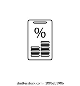 interest accrual in mobile banking icon. Element of mobile banking for smart concept and web apps. Thin line interest accrual in mobile banking icon can be used for web and mobile on white background