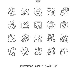 Interest Well-crafted Pixel Perfect Vector Thin Line Icons 30 2x Grid for Web Graphics and Apps. Simple Minimal Pictogram