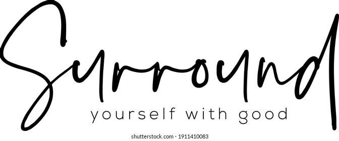 Interested quote. Modern calligraphy text. Vector hand-drawn illustration black and white