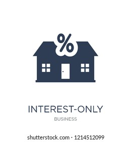 Interest-only mortgage icon. Trendy flat vector Interest-only mortgage icon on white background from Business collection, vector illustration can be use for web and mobile, eps10