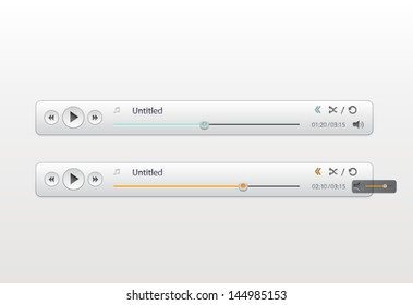 Interface of Audio-Player-Bar