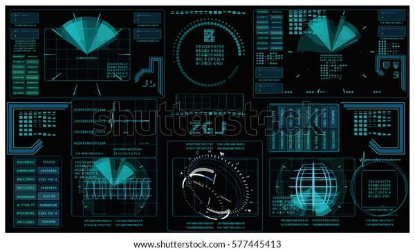 Interface Fx Fx Magic Interface Elements Stock Vector
