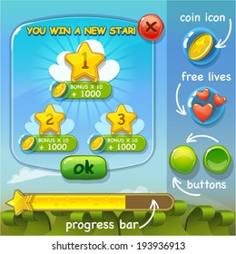 Interface game design (resource bar and resource icon for game) vector illustration (part 2)