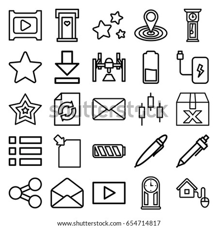 Interface Icons Set Set 25 Interface Stock Vector Royalty Free
