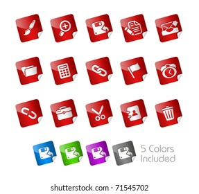 Interface Icons // Stickers Series -------It includes 5 color versions for each icon in different layers ---------