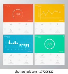 Interface Template-Modern Concept For Internet Web. Flat design. Vector
