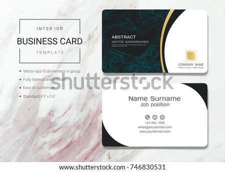 interior business name card design template stock vector royalty