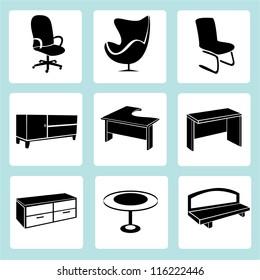 interior design, interior furniture set