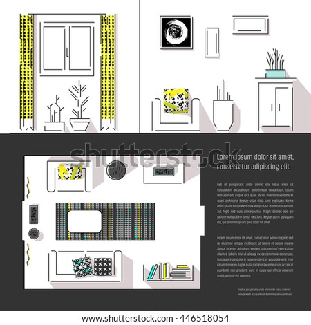 interior design magazine page layout web stock vector royalty free