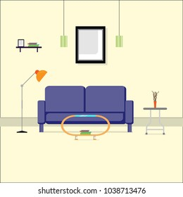 Interior design with Modern sofa background ,