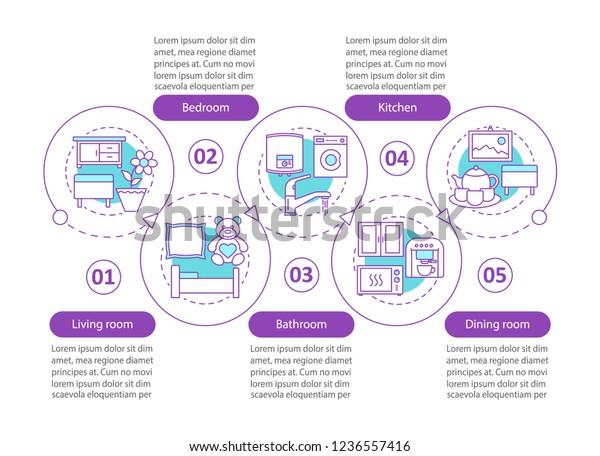 Interior Design Vector Infographic Template Flat Stock