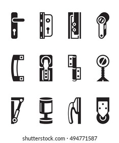 Interior and exterior fasteners - vector illustration  sc 1 st  Shutterstock : door fasteners - pezcame.com