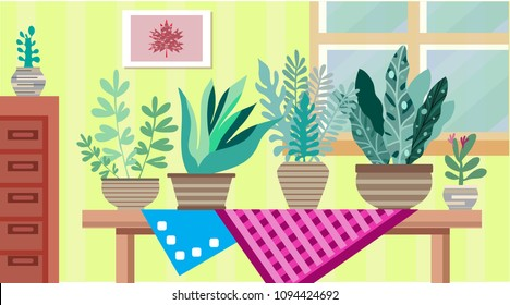 Home Modern Apartment Design Cartoon Flat Stock Vector Royalty Free New Apartment Design Painting