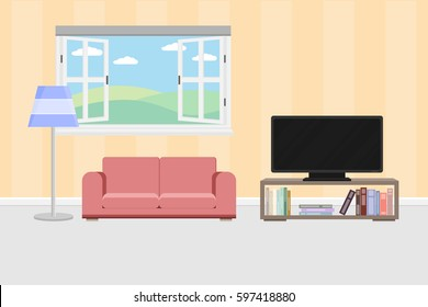 Cartoon Living Room Images Stock Photos Vectors 10 Off