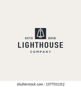 Interior logo design concept. Universal lamp design.