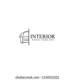 interior logo design, vector template