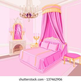 Interior of magic princess bedroom