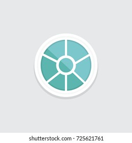 interior window vector illustration. Architecture design outdoor or exterior view, building and home theme