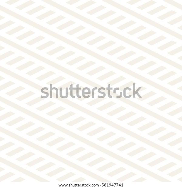 Interlacing Parallel Stripes. Vector Seamless Subtle Monochrome Pattern.