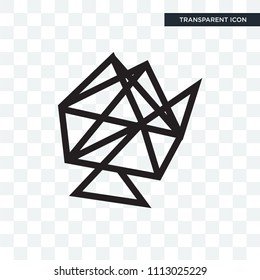Interlinked web vector icon isolated on transparent background, Interlinked web logo concept