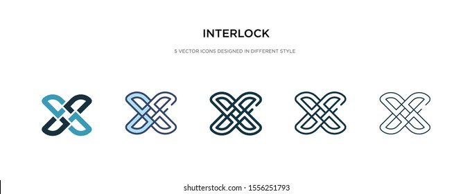 interlock icon in different style vector illustration. two colored and black interlock vector icons designed in filled, outline, line and stroke style can be used for web, mobile, ui