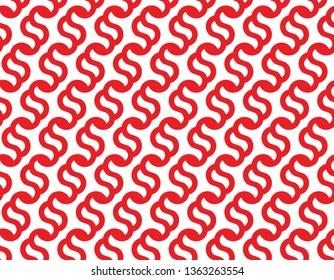 Interlocked Red S Letter Cursive Seamless Pattern