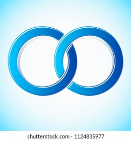 Interlocking circles stylized icon / logo (Easy to change colors)