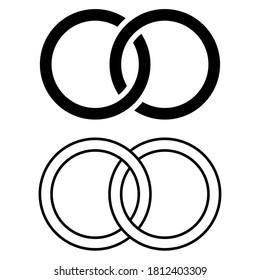 Interlocking icon vector set. combine illustration sign collection. interconnection symbol.