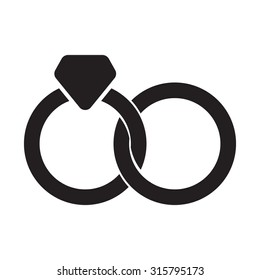 Interlocking rings icon vector illustration eps10 on white background