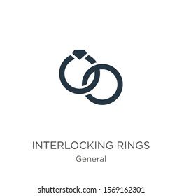 Interlocking rings icon vector. Trendy flat interlocking rings icon from general collection isolated on white background. Vector illustration can be used for web and mobile graphic design, logo, eps10