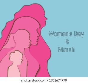 Internation Women's Day 8 of March - Shutterstock ID 1701674779