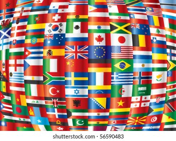 Background various world flags eps 10 vector stock vector royalty international 130 vector country flags freerunsca Image collections
