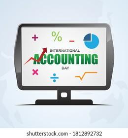 International accounting day design banner template. Illustration of international accounting day banner for web design. Vector illustration EPS.8 EPS.10