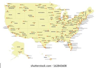 Us Airport Map Stock Vectors, Images & Vector Art | Shutterstock