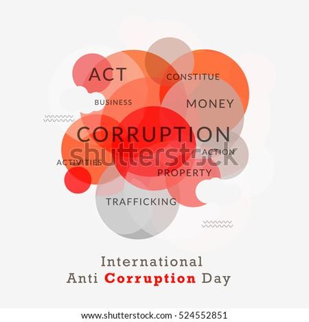 International anti corruption day poster banner stock vector international anti corruption dayer or banner maxwellsz