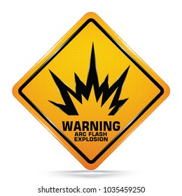 International Arc Flash Hazard Yellow Warning Dangerous icon on white background, Attracting attention Security First sign, Idea for,graphic,web design,EPS10.