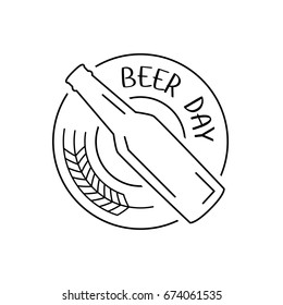 International Beer Day, logo line art